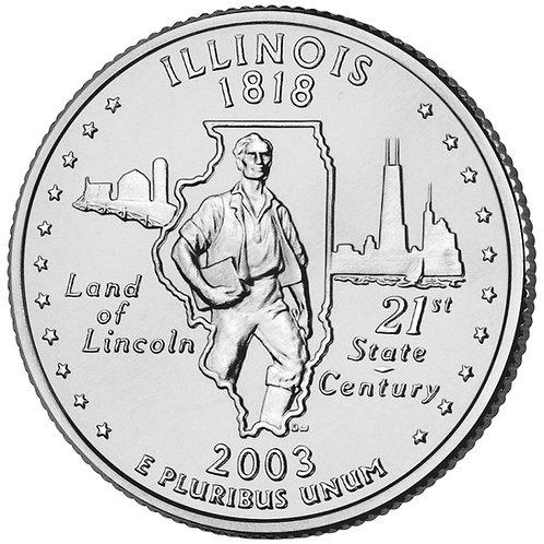 2003-P Illinois Statehood Quarter in BU