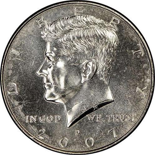 2007-D Kennedy Half Dollar in BU