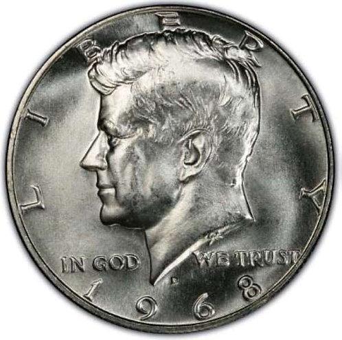 1968-D Kennedy Half Dollar in BU