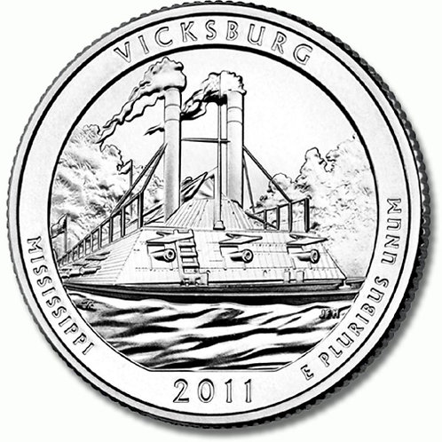 2011-D Vicksburg National Park Quarter in BU