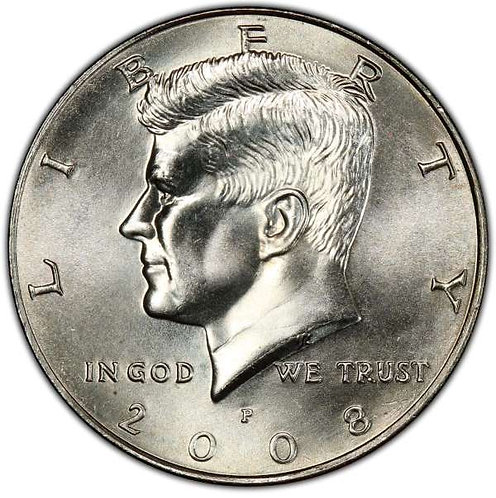 2008-P Kennedy Half Dollar in BU