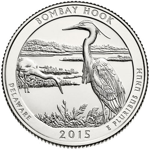 2015-D Bombay Hook National Park Quarter in BU