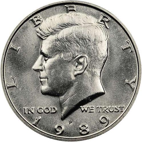 1989-P Kennedy Half Dollar in BU