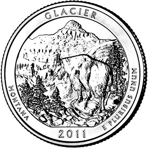 2011-D Glacier National Park Quarter in BU