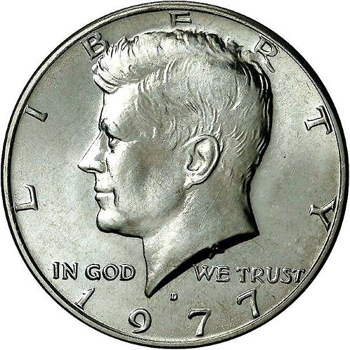 1977-D Kennedy Half Dollar in BU