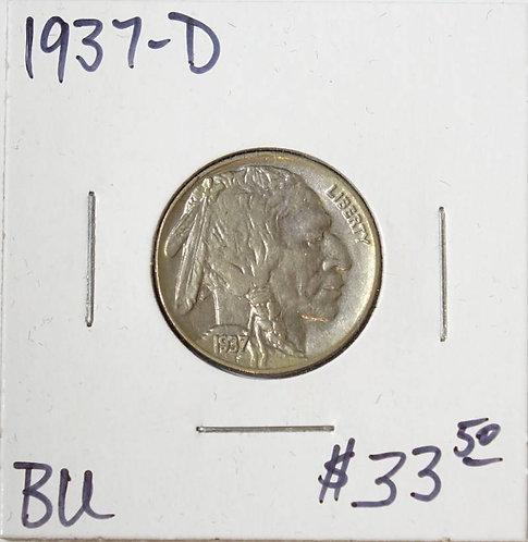 1937-D Buffalo Nickel in BU