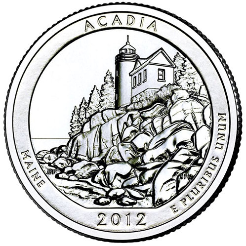 2012-D Acadia National Park Quarter in BU