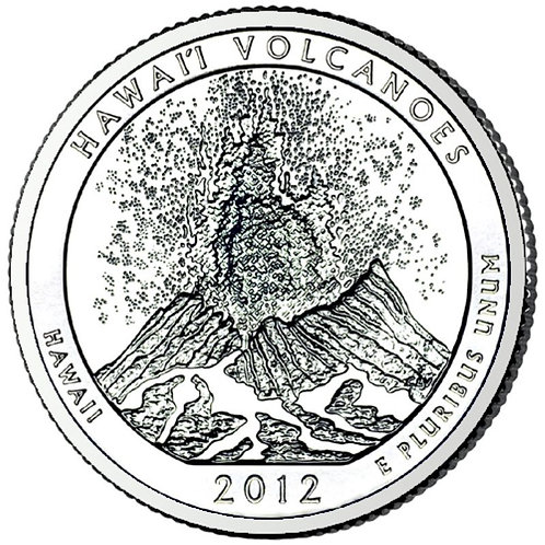 2012-S Hawaii Volcanoes National Park Quarter in BU