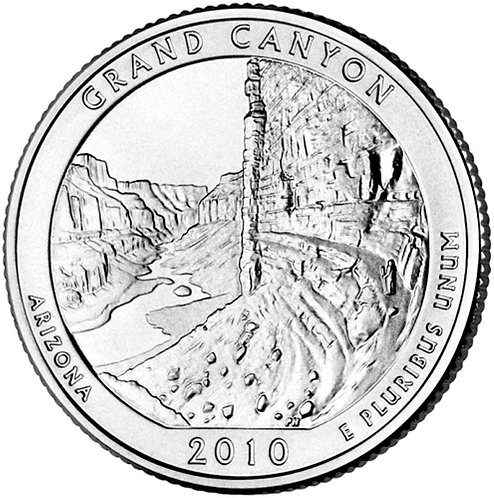2010-P Grand Canyon National Park Quarter in BU