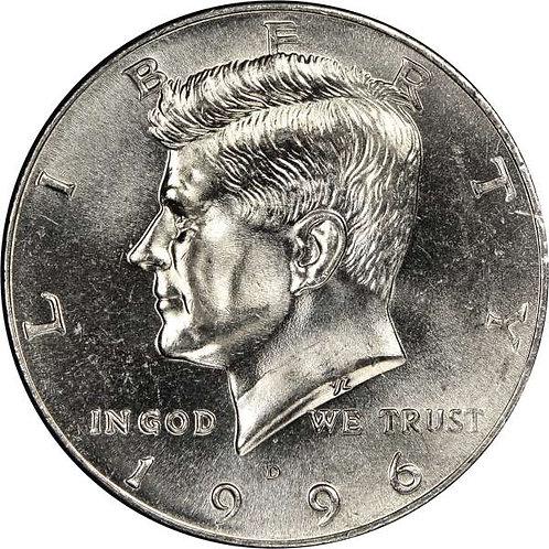 1996-D Kennedy Half Dollar in BU