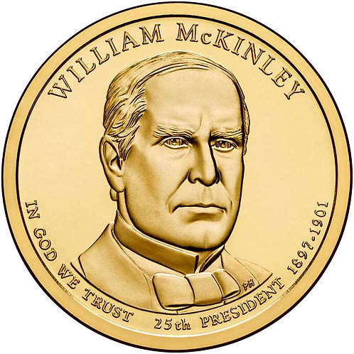 2013-D William McKinley Presidential Dollar in BU