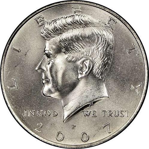 2007-P Kennedy Half Dollar in BU