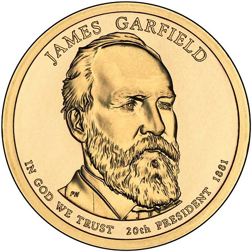 2011-P James Garfield Presidential Dollar in BU