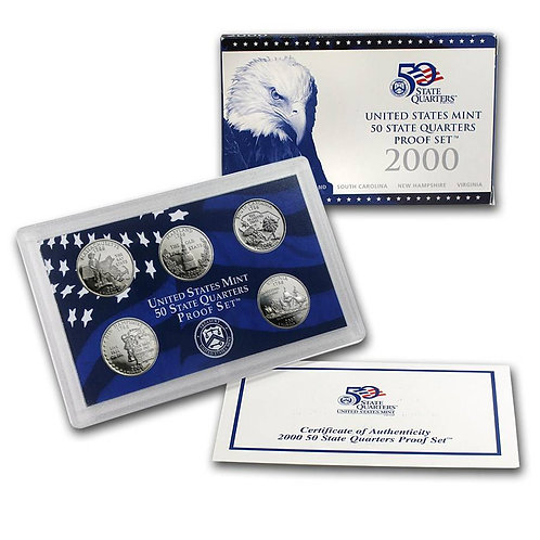 2000 Statehood Quarter Proof Set