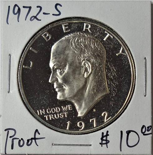 1972-S Proof Eisenhower Dollar
