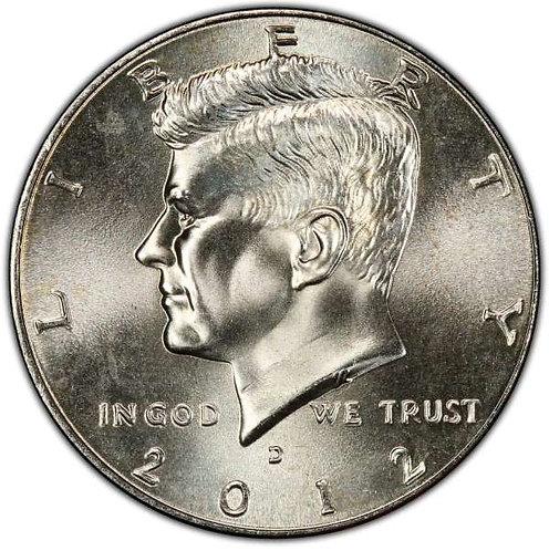 2012-D Kennedy Half Dollar in BU