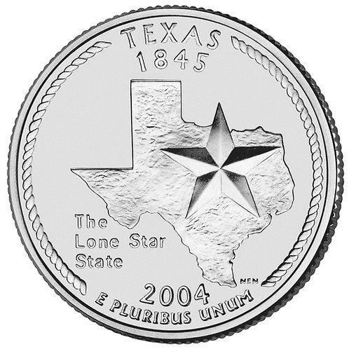 2004-D Texas Statehood Quarter in BU