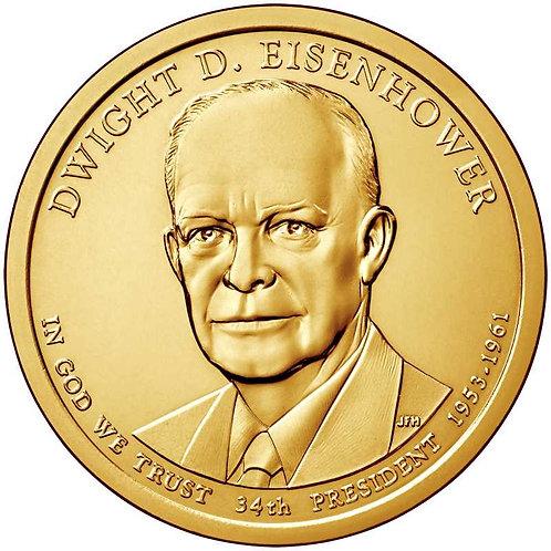 2015-D Dwight Eisenhower Presidential Dollar in BU