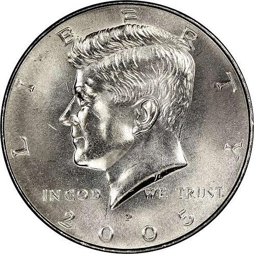 2005-P Kennedy Half Dollar in BU