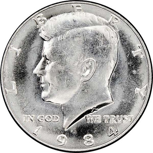 1984-D Kennedy Half Dollar in BU