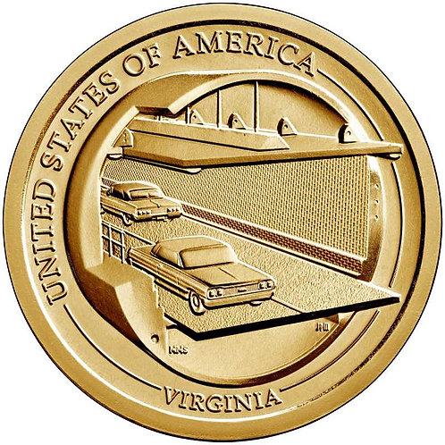 2021-D Virginia Innovation Dollar in BU