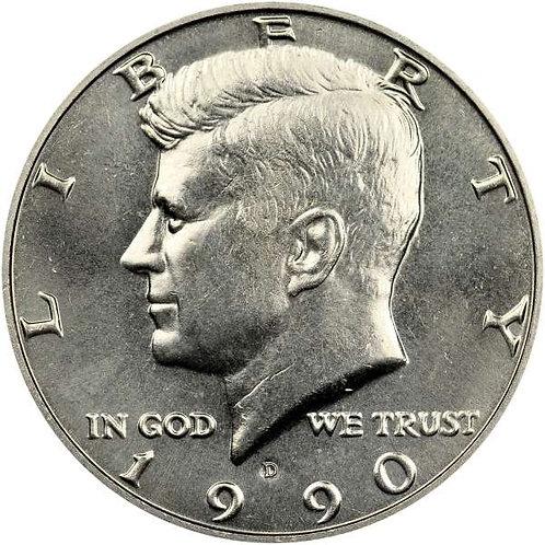1990-D Kennedy Half Dollar in BU