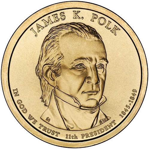 2009-D James Polk Presidential Dollar in BU