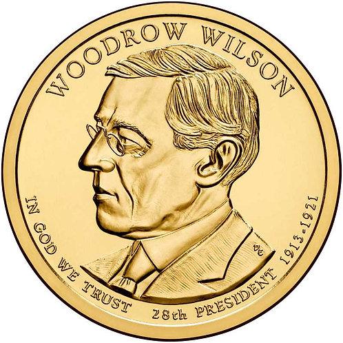 2013-P Woodrow Wilson Presidential Dollar in BU