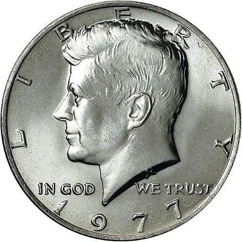 1977 Kennedy Half Dollar in BU