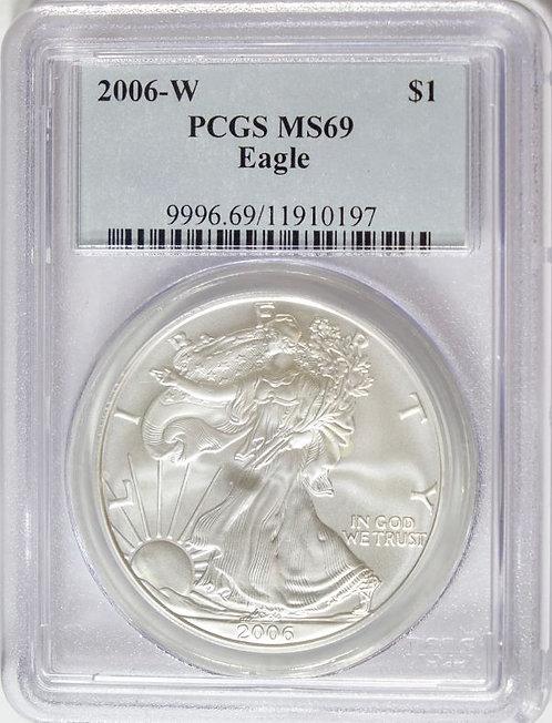 2006-W 1-oz American Silver Eagle PCGS MS69