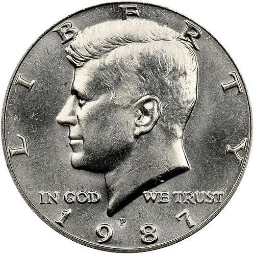1987-P Kennedy Half Dollar in BU
