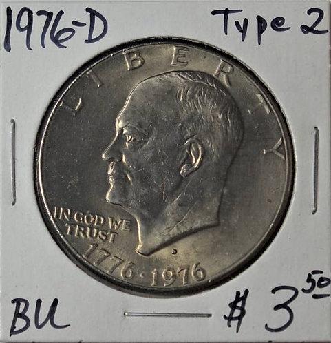 1976-D (Type 2) Eisenhower Dollar in BU