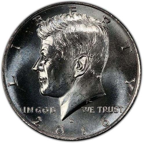 2016-D Kennedy Half Dollar in BU