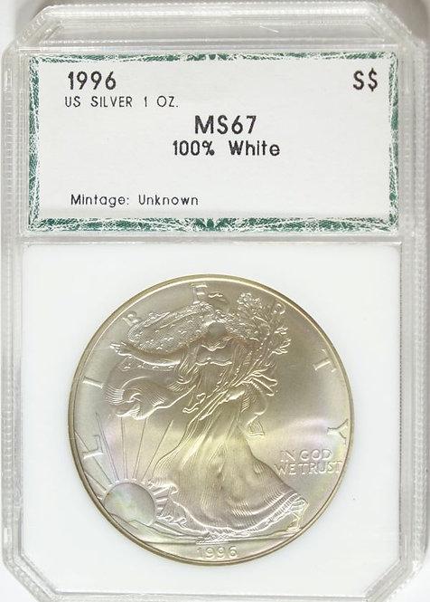 1996 1-oz American Silver Eagle PCI MS67