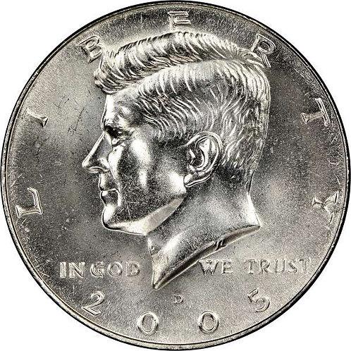 2005-D Kennedy Half Dollar in BU