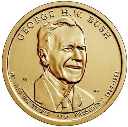 2020-P George H.W. Bush Presidential Dollar in BU