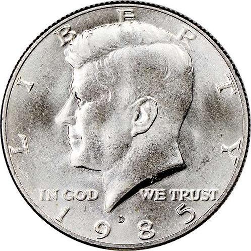 1985-D Kennedy Half Dollar in BU