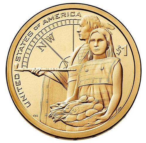 2014-P Native American Dollar in BU