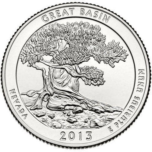 2013-P Great Basin National Park Quarter in BU