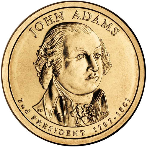 2007-P John Adams Presidential Dollar in BU