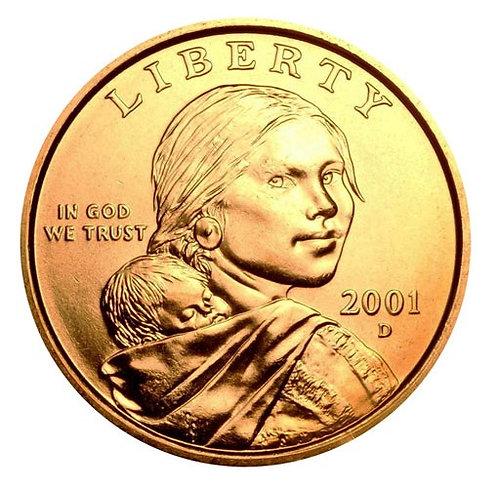 2001-D Sacagawea Dollar in BU
