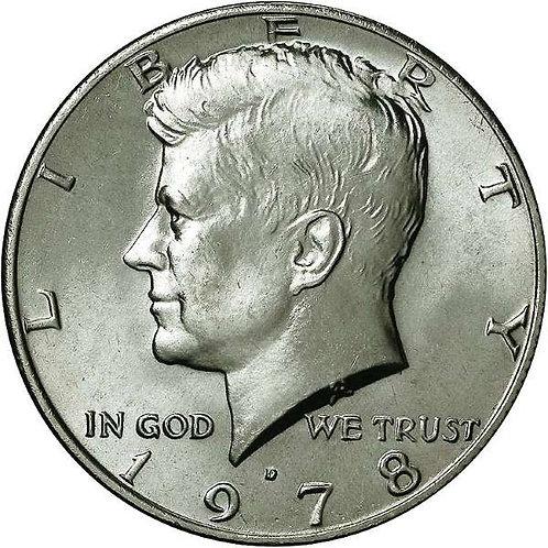 1978-D Kennedy Half Dollar in BU