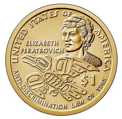 2020-P Native American Dollar in BU