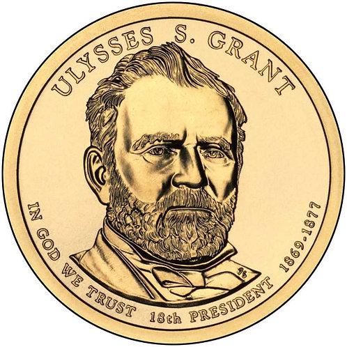 2011-P Ulysses Grant Presidential Dollar in BU