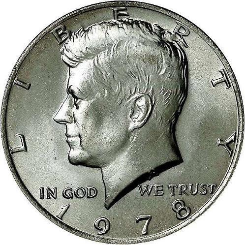 1978 Kennedy Half Dollar in BU