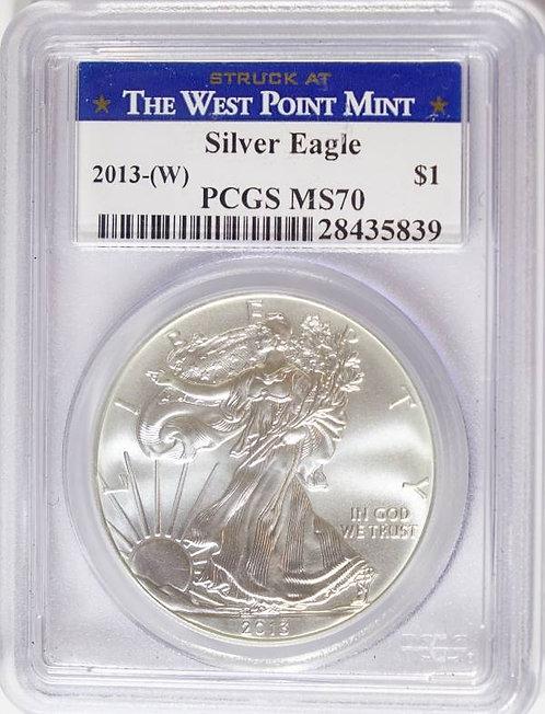 2013-W 1-oz American Silver Eagle PCGS MS70