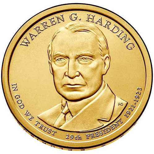2014-P Warren Harding Presidential Dollar in BU