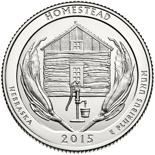 2015-S Homestead National Park Quarter in BU