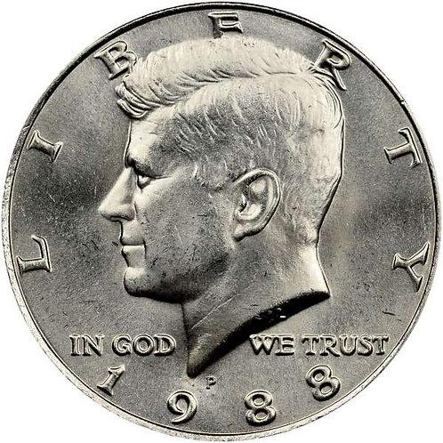1988-P Kennedy Half Dollar in BU