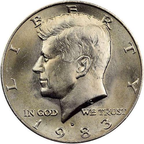 1983-D Kennedy Half Dollar in BU
